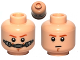 Part No: 3626cpb0794  Name: Minifigure, Head Dual Sided Dark Orange Eyebrows, Chin Dimple Determined / Breathing Apparatus Pattern (SW Obi-Wan) - Hollow Stud