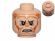 Part No: 3626cpb0805  Name: Minifigure, Head Alien with SW Saesee Tiin, Small Eyes with Pupils, Orange Dots on Sides, Angry Pattern - Hollow Stud