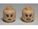 Part No: 3626cpb0813  Name: Minifigure, Head Dual Sided LotR Tauriel, Freckles, Calm / Angry, Bared Teeth Pattern - Hollow Stud