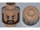 Part No: 3626cpb0901  Name: Minifigure, Head Beard Brown Angular, White Eyes, Angry Pattern - Hollow Stud