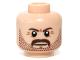 Part No: 3626cpb0943  Name: Minifigure, Head Beard Stubble, Moustache, Brown Eyebrows Pattern - Hollow Stud
