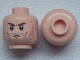 Part No: 3626cpb0946  Name: Minifigure, Head Beard Stubble, Brown Angry Eyebrows, White Pupils Pattern - Hollow Stud