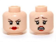Part No: 3626cpb0958  Name: Minifigure, Head Dual Sided Female Red Lips, Determined / Scared Pattern (Rebecca Reid) - Hollow Stud