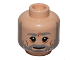 Part No: 3626cpb1172  Name: Minifigure, Head Beard with SW Gray Beard and Eyebrows, Furrowed Brow, White Pupils, Cheek Lines Pattern (SW Obi-Wan) - Hollow Stud