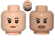 Part No: 3626cpb1237  Name: Minifigure, Head Dual Sided Female Black Eyebrows, Light Orange Lips and Beauty Mark / Open Mouth Pattern - Hollow Stud