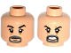 Part No: 3626cpb1382  Name: Minifigure, Head Dual Sided Goatee, Black Eyebrows, Bags under Eyes, Closed Mouth / Open Mouth with Teeth Pattern - Hollow Stud