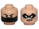 Part No: 3626cpb1471  Name: Minifigure, Head Dual Sided Dark Brown Eyebrows and Black Bandana / Black Eye Mask with Eye Holes Pattern (Winter Soldier) - Hollow Stud