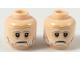 Part No: 3626cpb1572  Name: Minifigure, Head Dual Sided Gray Eyebrows, Beard, Moustache, White Pupils, Slight Smile / Sad Pattern (SW Lor San Tekka) - Hollow Stud