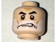 Part No: 3626cpb1577  Name: Minifigure, Head Beard White, Moustache, Black Eyebrows, Cheek Lines, Sneer Pattern (Captain Rex) - Hollow Stud