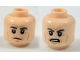 Part No: 3626cpb1855  Name: Minifigure, Head Dual Sided Thick Gray Eyebrows, Cheek Lines, White Pupils, Neutral / Angry Pattern (Han Solo) - Hollow Stud