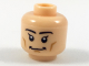 Part No: 3626cpb1987  Name: Minifigure, Head Black Eyebrows and Eyes with Single Eyelashes, Broad Grin Pattern - Hollow Stud