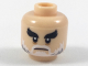 Part No: 3626cpb1988  Name: Minifigure, Head Black Bushy Eyebrows, White Moustache and Beard with Gray Pattern - Hollow Stud