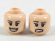 Part No: 3626cpb2026  Name: Minifigure, Head Dual Sided Female Black Eyebrows, Wide Smile / Embarrassed Expression Pattern - Hollow Stud