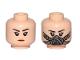 Part No: 3626cpb2091  Name: Minifigure, Head Dual Sided Female, Black Eyebrows, Orange Lips / Pilot Breathing Mask Pattern - Hollow Stud