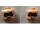 Part No: 3626cpb2119  Name: Minifigure, Head Dual Sided Female Black Mask, Open Smile / Angry Pattern (Mrs. Incredible) - Hollow Stud