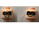 Part No: 3626cpb2120  Name: Minifigure, Head Dual Sided Black Mask, Smirk / Open Smile Pattern (Mr. Incredible) - Hollow Stud