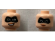 Part No: 3626cpb2122  Name: Minifigure, Head Dual Sided Female Black Mask, Open Smile / Smirk Pattern (Elastigirl) - Hollow Stud