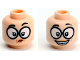 Part No: 3626cpb2174  Name: Minifigure, Head Dual Sided Female Black Eyebrows, Glasses Large, Skeptical / Smile With Teeth Pattern (Edna Mode) - Hollow Stud