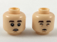 Part No: 3626cpb2202  Name: Minifigure, Head Dual Sided Dark Brown Eyebrows, Buck Teeth / Closed Eyes and Mouth Pattern - Hollow Stud