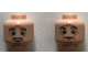 Part No: 3626cpb2259  Name: Minifigure, Head Dual Sided Dark Bluish Gray Eyebrows, Eyes with Pupils, Wrinkles, Open Mouth Smile / Frown Pattern (Horace Slughorn) - Hollow Stud