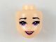 Part No: 36319  Name: Mini Doll, Head Friends with Purple Eyes, Dark Pink Lips and Open Mouth Pattern