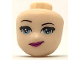 Part No: 36321  Name: Mini Doll, Head Friends with Light Blue Eyes and Magenta Lips with Smirk Pattern
