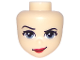 Part No: 36904  Name: Mini Doll, Head Friends with Sand Blue Eyes, Red Lips and Smirk Pattern