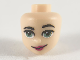 Part No: 38594  Name: Mini Doll, Head Friends with Sand Green Eyes, Dark Pink Lips and Smirk Pattern