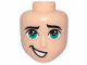 Part No: 47934  Name: Mini Doll, Head Friends Male with Dark Turquoise Eyes and Crooked Open Mouth Smile Pattern (Tempo)