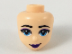 Part No: 48252  Name: Mini Doll, Head Friends with Dark Azure Eyes, Dark Purple Lips Pattern
