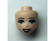 Part No: 48262  Name: Mini Doll, Head Friends with Sand Green Eyes, Reddish Brown Lips, Open Mouth, and Freckles Pattern
