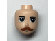 Part No: 48265  Name: Mini Doll, Head Friends with Dark Green Eyes, Dark Orange Moustache Pattern