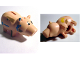 Part No: 89991pb02  Name: Pig Body with Coin Plug Hole, with Eyes and Dirt Pattern