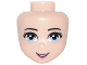 Part No: 93212  Name: Mini Doll, Head Friends with Bright Light Blue Eyes, Dark Pink Lips and Open Mouth Pattern