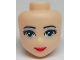 Part No: 95872  Name: Mini Doll, Head Friends with Light Blue Eyes with Eye Shadow, Red Lips and Closed Mouth Pattern