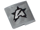 Part No: 15068pb006L  Name: Slope, Curved 2 x 2 No Studs with Silver Letter A on Black Star Ultra Agents Logo Pattern Model Left (Sticker)