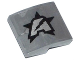 Part No: 15068pb006R  Name: Slope, Curved 2 x 2 No Studs with Silver Letter A on Black Star Ultra Agents Logo Pattern Model Right (Sticker)