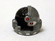 Part No: 19026pb01  Name: Minifigure, Headgear Helmet Cyborg Side Open with Black Top Side, Red Eye and Red Dot Pattern