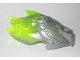 Part No: 24162pb02  Name: Bionicle Creature Head/Mask with Marbled Trans-Neon Green Pattern