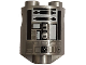 Part No: 30361pb013  Name: Brick, Round 2 x 2 x 2 Robot Body with White and Black Pattern (R2-Q2)