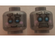 Part No: 3626cpb1936  Name: Minifig, Head Alien with Robot Blue Eyes, Pink Cheeks Pattern - Stud Recessed