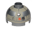 Part No: 553pb020  Name: Brick, Round 2 x 2 Dome Top with Tan Pattern (Astromech Droid)