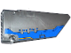 Part No: 64682pb007  Name: Technic, Panel Fairing #18 Large Smooth, Side B with Blue Milano Spaceship Pattern (Sticker) - Set 76021