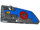 Part No: 64683pb013  Name: Technic, Panel Fairing # 3 Small Smooth Long, Side A with Triangle in Red Circle and Milano Spaceship Pattern (Sticker) - Set 76021