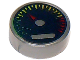 Part No: 98138pb010  Name: Tile, Round 1 x 1 with Gauge with Red Pointer Pattern