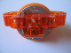 Part No: 15103c02  Name: Technic Brick 3 x 6 x 2 with Metal Flywheel and Orange Tire (Chima Rip Cord Base)