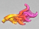 Part No: 18394pb04  Name: Wave Rounded Wing Shaped with Bar (Flame) with Marbled Trans-Dark Pink Pattern