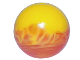 Part No: 54821pb04  Name: Bionicle Zamor Sphere (Ball) with Marbled Yellow Pattern