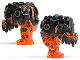 Part No: 87959c01pb01  Name: Body Magma Monster Large with Black Top and Black and Orange Pattern
