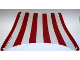 Part No: sailbb43  Name: Cloth Sail 28 x 18 Top with Red Stripes Pattern